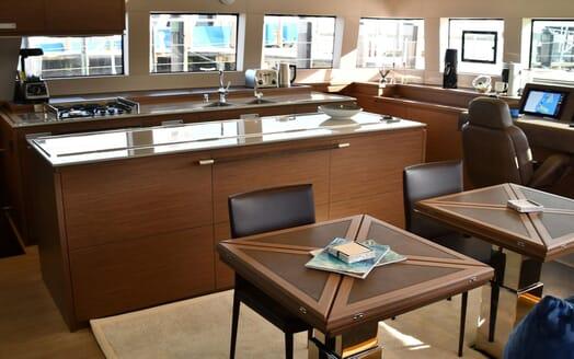 Motor Yacht LONG MONDAY Galley and Nav