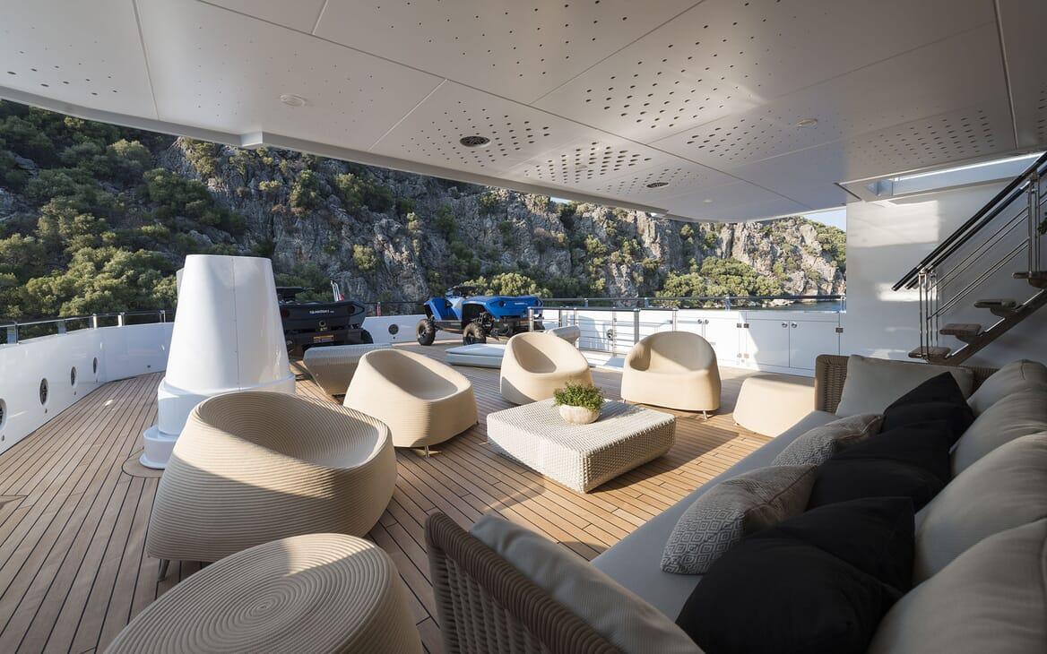 Motor Yacht AQUARIUS Main Aft Deck