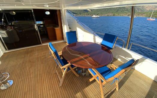 Motor Yacht TURK'S Upper Aft Deck