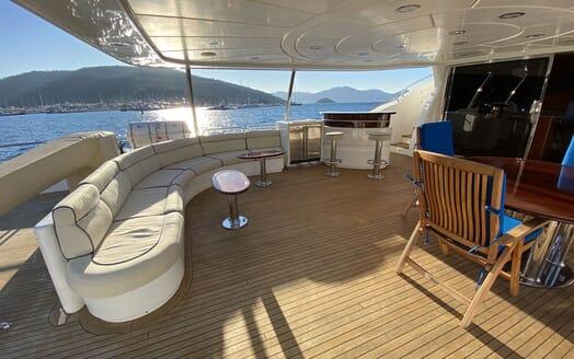 Motor Yacht TURK'S Aft Deck