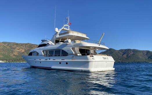 Motor Yacht TURK'S Exterior Aft View