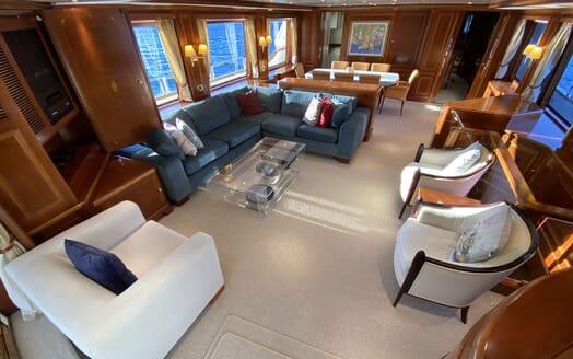 Motor Yacht TURK'S Main Deck Salon