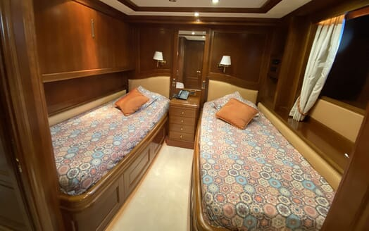 Motor Yacht TURK'S Second Twin Stateroom