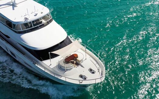 Motor Yacht ENTREPRENEUR 100 Bow Seating Aerial