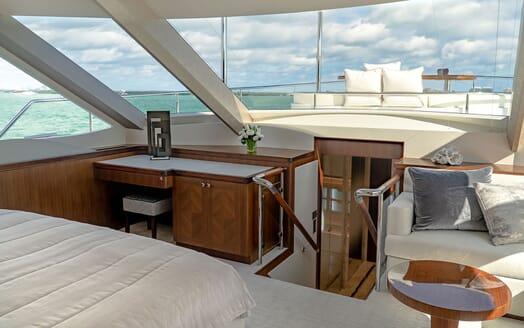 Motor Yacht ENTREPRENEUR 100 Master Statroom Stairs