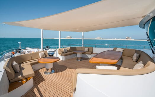 Motor Yacht MAJESTY 140 Bow Sun Deck with Toys