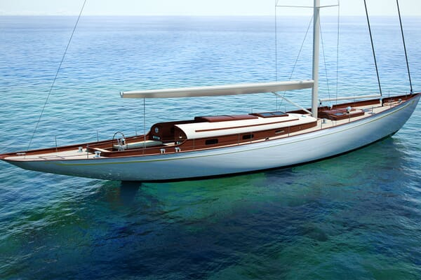 Sailing Yacht FARILIE Profile Rendering
