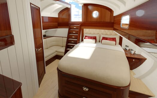 Sailing Yacht FARILIE Master Stateroom Rendering