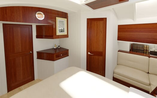 Sailing Yacht FARILIE Stateroom Rendering