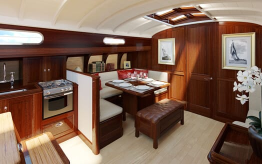 Sailing Yacht FARILIE Dining Table Rendering