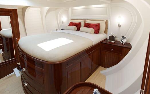 Sailing Yacht FARILIE Full Beam Stateroom Rendering