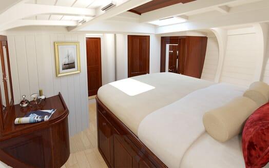 Sailing Yacht FARILIE Full Beam Stateroom 2 Rendering