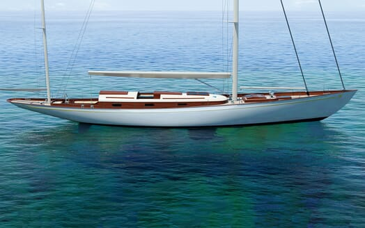 Sailing Yacht FARILIE Side On Profile Rendering