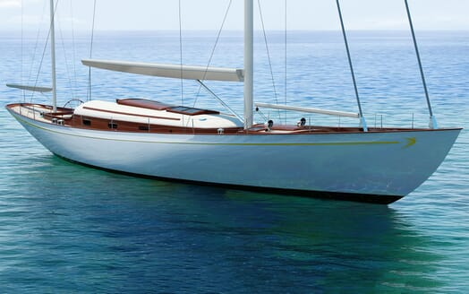 Sailing Yacht FARILIE Exterior Bow Rendering
