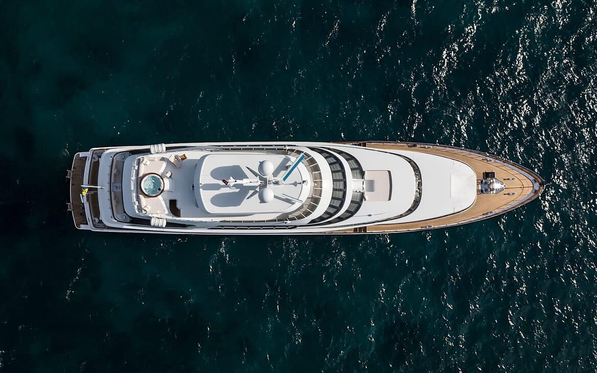 Motor Yacht Azzurra aerial