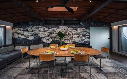 Motor Yacht DOT Dining Room