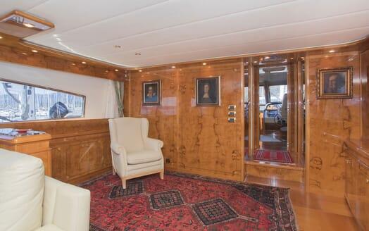 Motor Yacht LADY ADELHEID Main Deck Salon to Wheelhouse