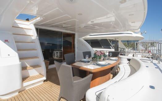 Motor Yacht LADY ADELHEID Main Aft Deck Dining