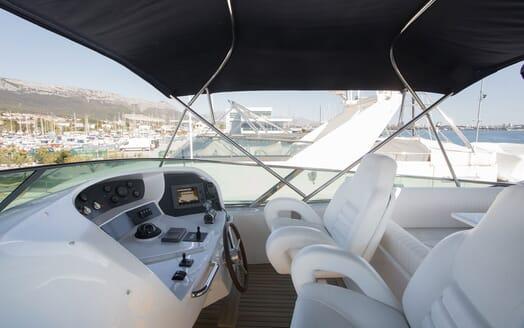 Motor Yacht LADY ADELHEID Sun Deck Wheelhouse