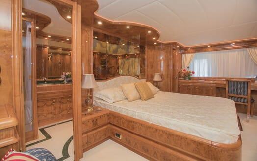 Motor Yacht LADY ADELHEID Master Stateroom Bed