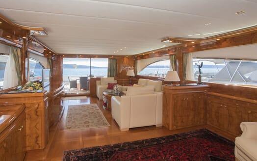 Motor Yacht LADY ADELHEID Main Deck Salon