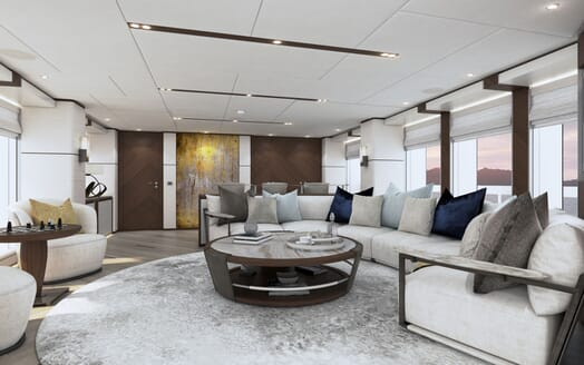 Motor yacht PROJECT SAPPHIRE Main Salon Seating