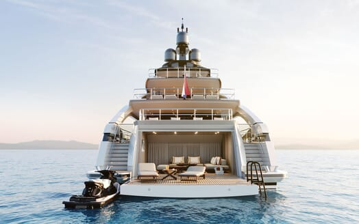 Motor yacht PROJECT SAPPHIRE Aft Decks Exterior View