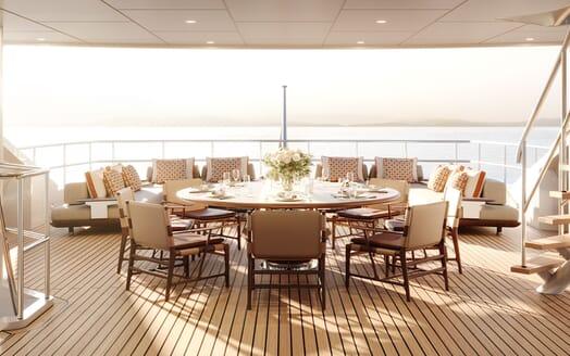 Motor yacht PROJECT SAPPHIRE Main Deck Aft Deck