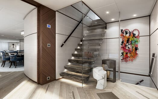 Motor yacht PROJECT SAPPHIRE Stair Case