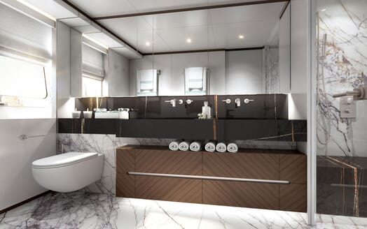 Motor yacht PROJECT SAPPHIRE Bathroom