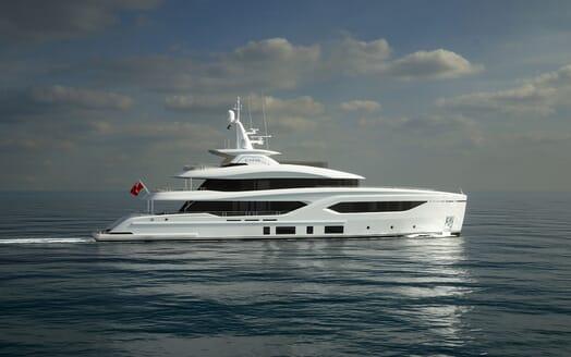 Motor Yacht CONRAD C144S Profile Underway