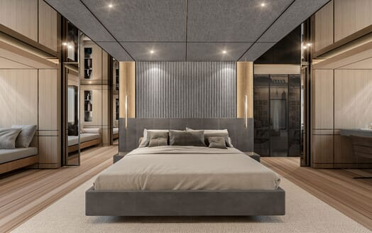 Motor Yacht CONRAD C144S Master Stateroom