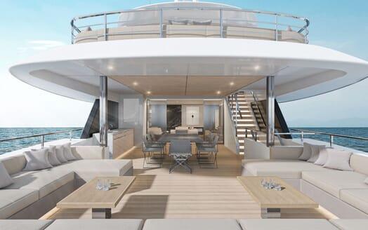 Motor Yacht CONRAD C144S Main Aft Deck