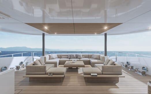 Motor Yacht CONRAD C144S Aft Deck Seating