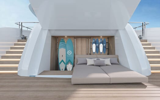 Motor Yacht CONRAD C144S Aft Deck Storage