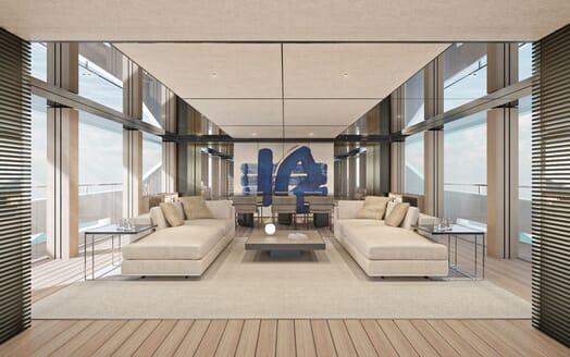 Motor Yacht CONRAD C144S Main Salon