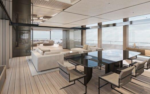 Motor Yacht CONRAD C144S Dining Room