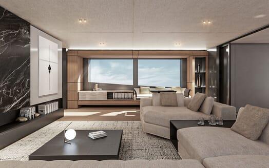 Motor Yacht CONRAD C144S Main Salon Seating
