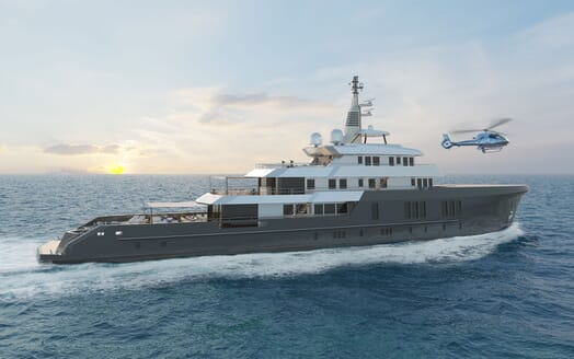 Motor Yacht PROJECT PN 116 Profile Render