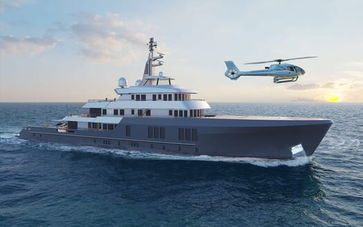 Motor Yacht PROJECT PN 116 Double Stateroom Render