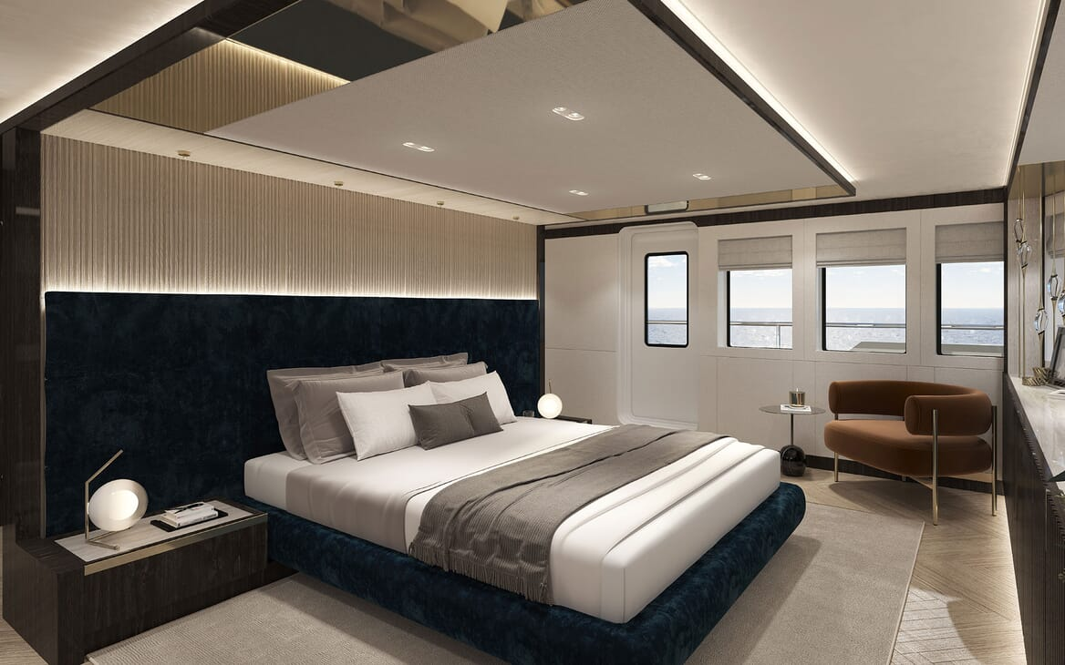 Motor Yacht PROJECT PN 116 Double Guest Stateroom Render