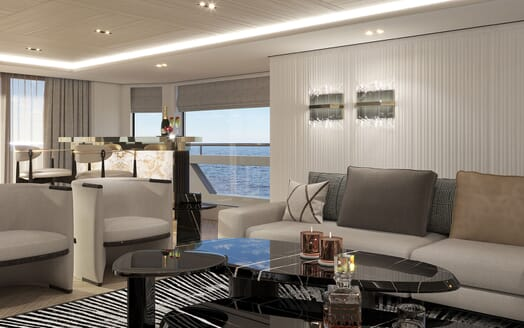 Motor Yacht PROJECT PN 116 Salon Detail Render