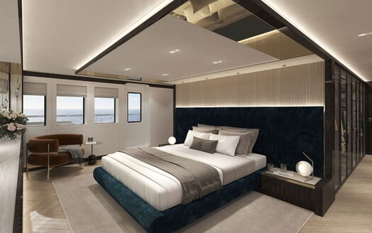 Motor Yacht PROJECT PN 116 Stateroom Render
