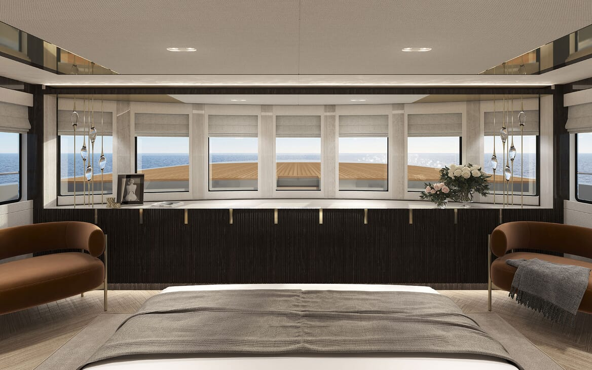 Motor Yacht PROJECT PN 116 Stateroom View Render