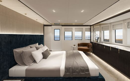 Motor Yacht PROJECT PN 116 Stateroom with Chair Render