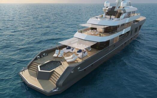 Motor Yacht PROJECT PN 116 Main Deck Salon Render