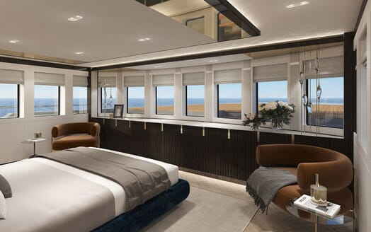 Motor Yacht PROJECT PN 116 Full Beam Stateroom Render