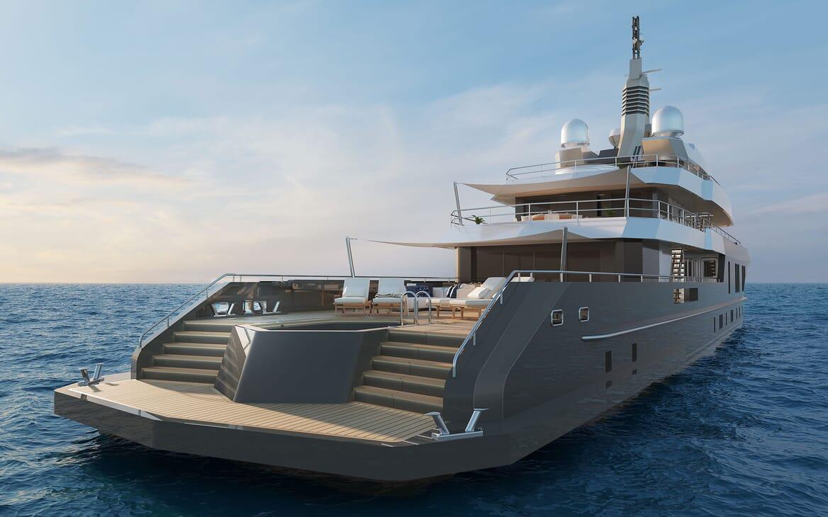 Motor Yacht PROJECT PN 116 Main Aft Deck
