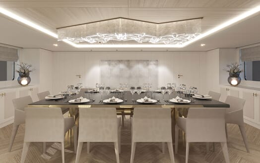 Motor Yacht PROJECT PN 116 Dining Table Render