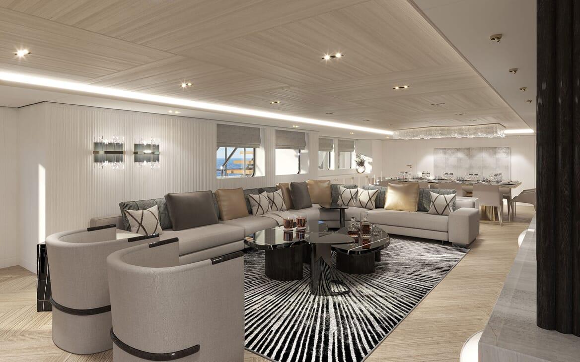 Motor Yacht PROJECT PN 116 Main Salon Render